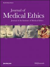 Journal of Medical Ethics: 38 (5)