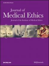 Journal of Medical Ethics: 38 (6)