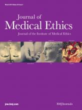 Journal of Medical Ethics: 39 (3)