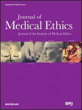 Journal of Medical Ethics: 39 (9)