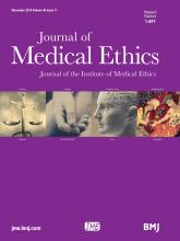 Journal of Medical Ethics: 40 (11)