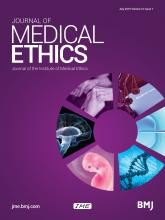 Journal of Medical Ethics: 41 (7)