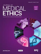 Journal of Medical Ethics: 47 (2)
