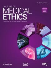 Journal of Medical Ethics: 47 (5)